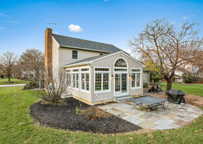 Exterior Sunroom Addition Example Chester County PA