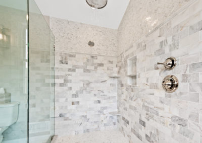 Bathroom Remodeling Contractor Near Me - Inside Waterfall Shower
