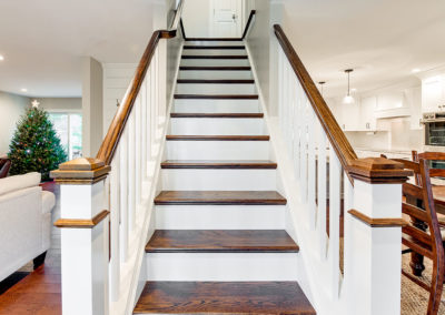 Home Remodeling Contractors Residential Construction - Beautiful Hardwood Steps Leading to Second Floor