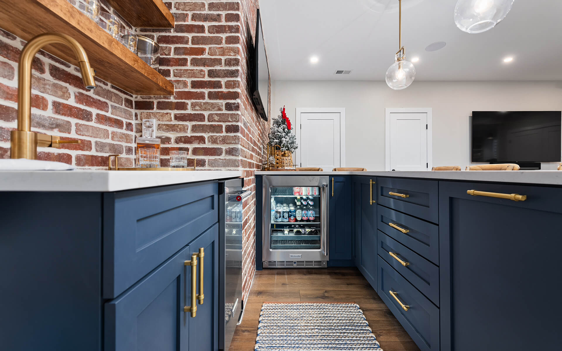 Finished Basement Project - Custom Cabinetry & Wet Bar